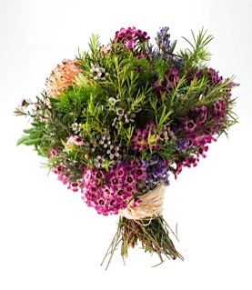 flor de cera en varios tonos